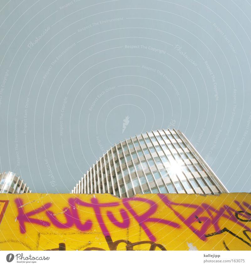 kulturschock Himmel Berlin Architektur Fassade modern Hochhaus Baustelle Kultur Reflexion & Spiegelung Gesellschaft (Soziologie) bauen nachhaltig kultig Bürogebäude Bauzaun