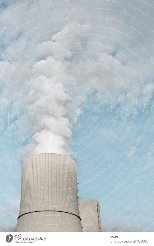 Wolkenmacher Fabrik Industriefotografie Arbeit & Erwerbstätigkeit Design grau Metall Himmel Schornstein Abgas Rauch Smog Umwelt Schadstoff Luft