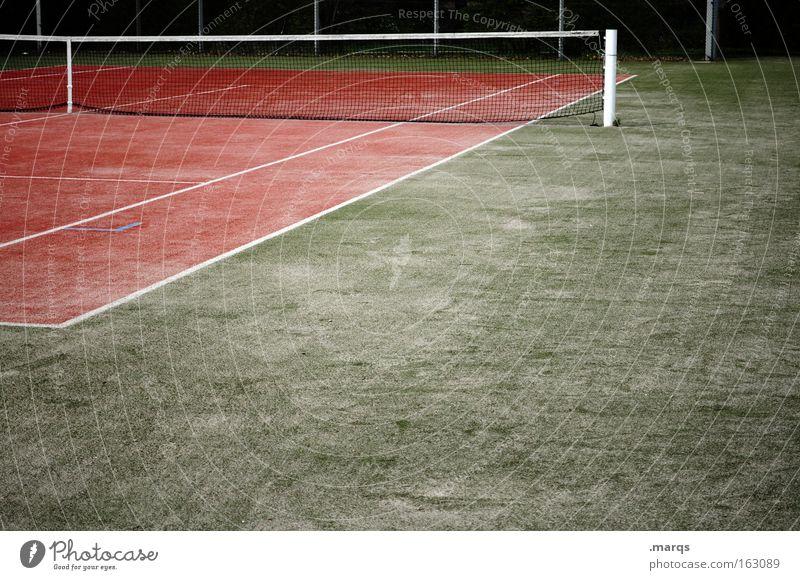 Match Gedeckte Farben Außenaufnahme Menschenleer Textfreiraum unten Dämmerung Freizeit & Hobby Spielen Sport Sportveranstaltung Erfolg Verlierer Sportstätten