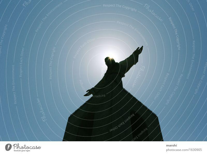 Christo Rei Sonne Wärme Gefühle Religion & Glaube Stimmung Arme Denkmal Sehenswürdigkeit Statue heilig Portugal Jesus Christus Katholizismus Lissabon