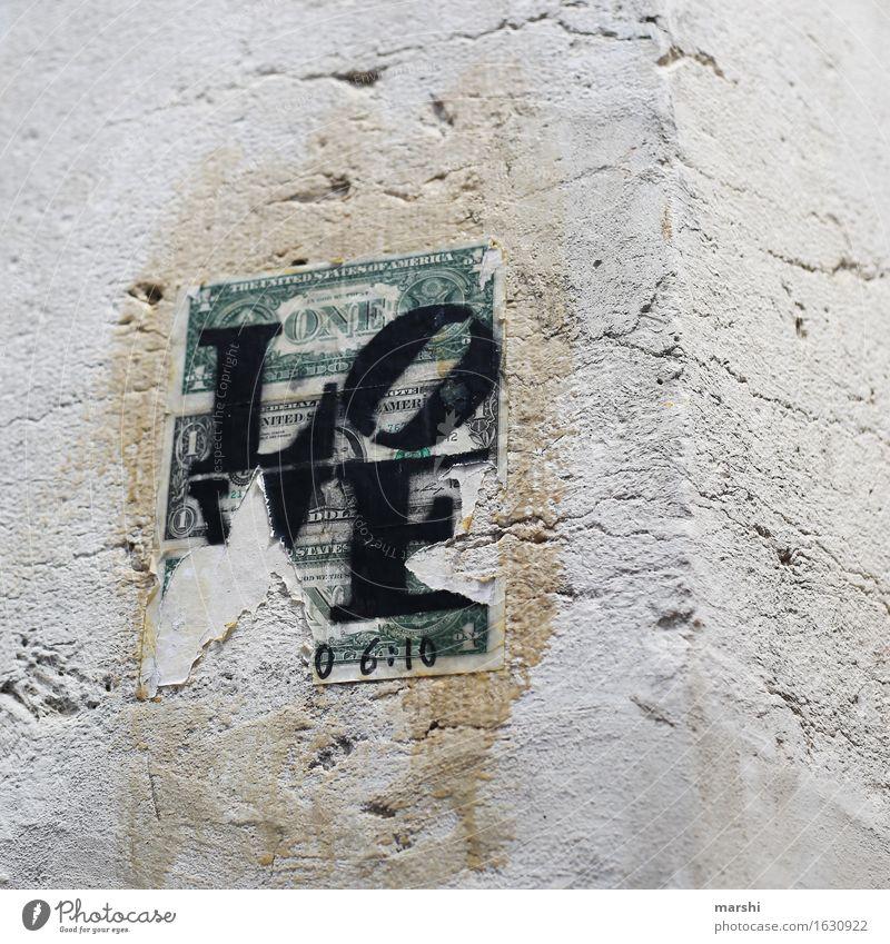 Money Love Altstadt Haus Mauer Wand Fassade Zeichen Schriftzeichen Hinweisschild Warnschild Graffiti Geld Dollarzeichen Stimmung Liebe Geldscheine Lissabon