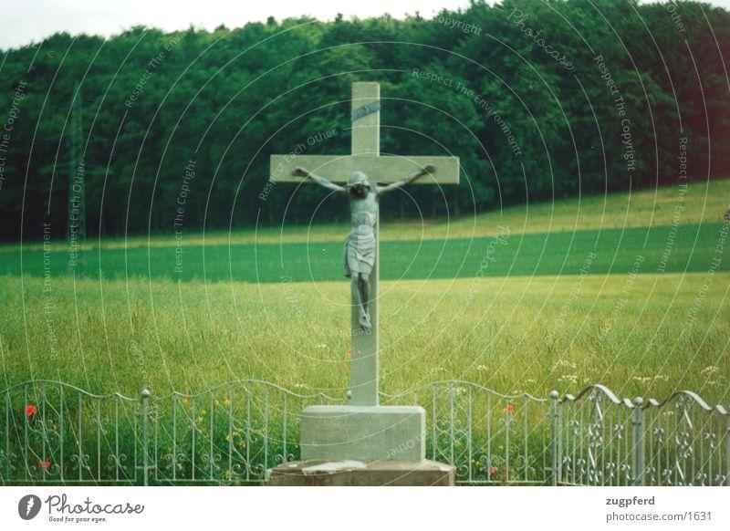 jesus am kreuz Religion & Glaube Rücken historisch