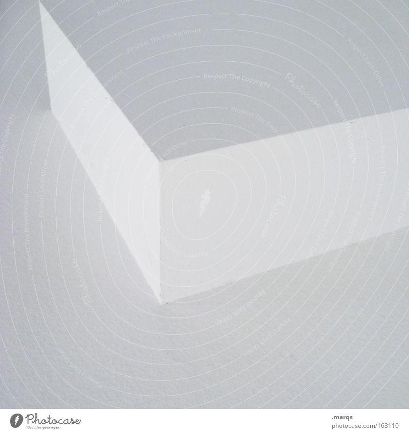 Cuboid weiß Wand Mauer Gebäude Linie Architektur Design Beton Ecke Sauberkeit Grafik u. Illustration Geometrie sehr wenige steril wenige