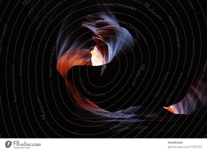 Echse Ferien & Urlaub & Reisen Tier Stein Sand Felsen USA Reisefotografie Dynamik Schlucht Tal Echsen Mineralien Berge u. Gebirge Höhepunkt Licht & Schatten