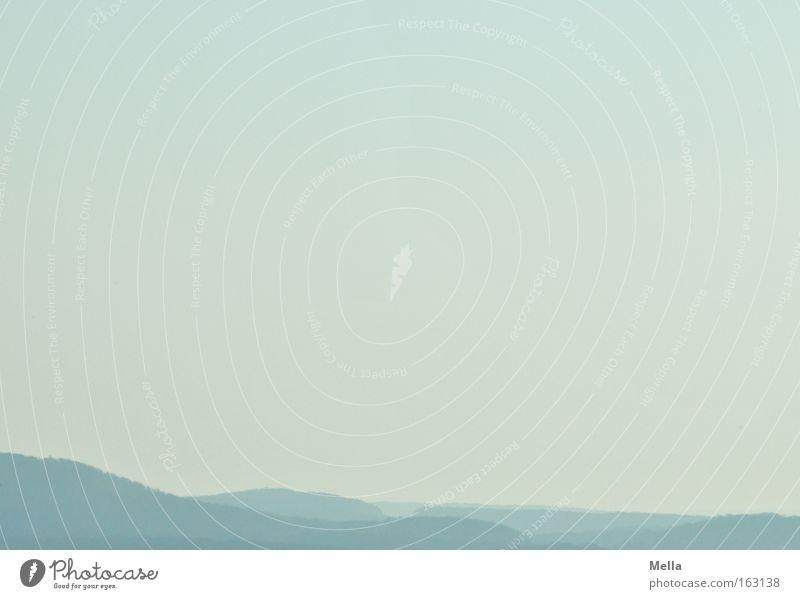 Weitblick Landschaft Hügel Berge u. Gebirge Ferne Blick Überblick blau Himmel Luft atmen frei Perspektive