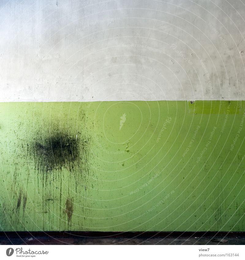 grün so grün ist ... Streifen Wand dreckig Hintergrundbild Farbe Lack alt vergessen Putz Fleck Idee Bodenbelag Borte Dekoration & Verzierung verfallen