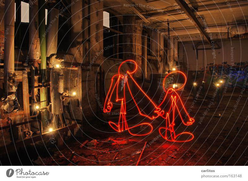 Rotlichtmilieu rot Liebe frei verfallen Langzeitbelichtung Strichmännchen Bordell Zuhälter Rotlichtviertel