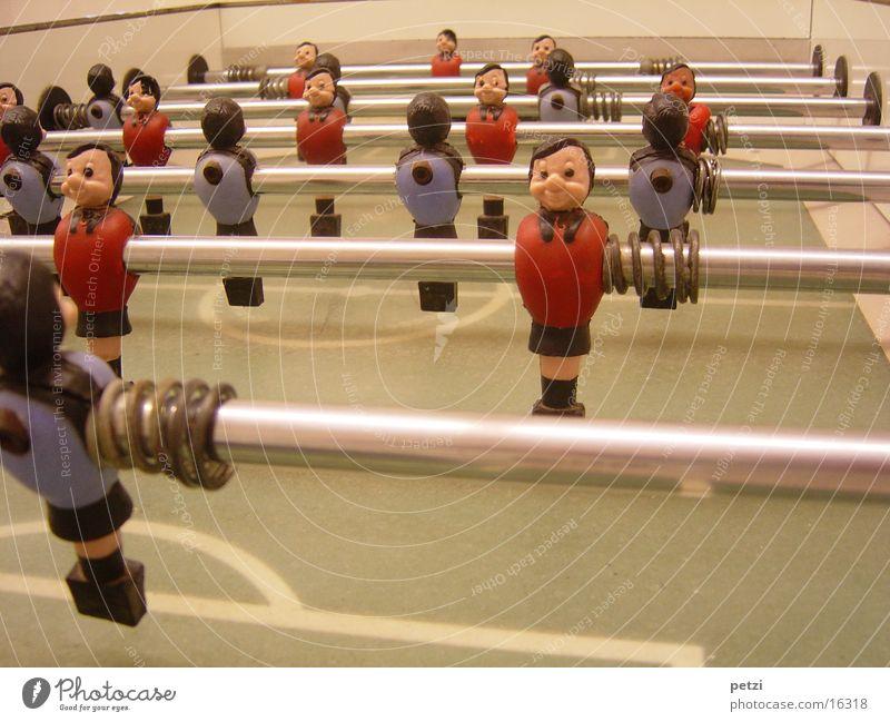 Wuzeltisch blau rot Freude Sport Spielen Freizeit & Hobby Sportveranstaltung beweglich Fußballplatz