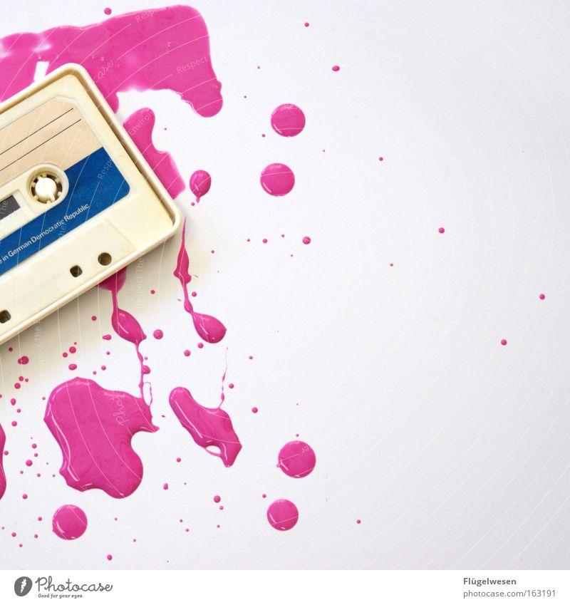 """Ost-Tape übersieht """"Frisch gestrichen"""" Schild Musikkassette Farbe Fleck DDR Ghettoblaster Entertainment Medien Dinge case magnetband orwo mc"""
