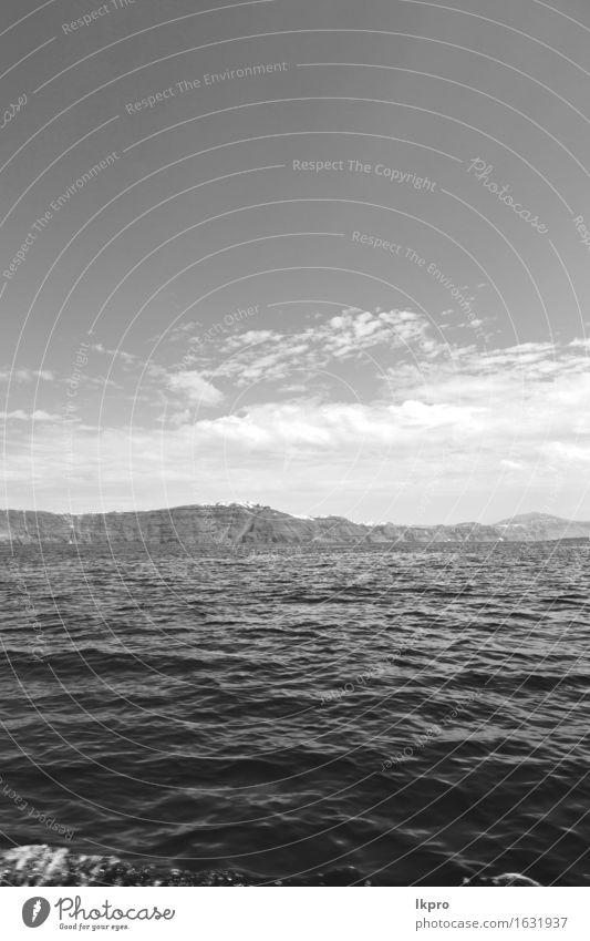 nd Felsen am Sommerstrand Natur Ferien & Urlaub & Reisen schön weiß Meer Erholung Landschaft Wolken Strand schwarz Küste grau Sand Wasserfahrzeug