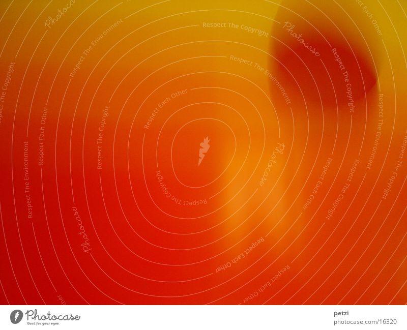 Orange-gelb-rote Sonne Bild fließen Verlauf Langzeitbelichtung Farbe orange Unschärfe