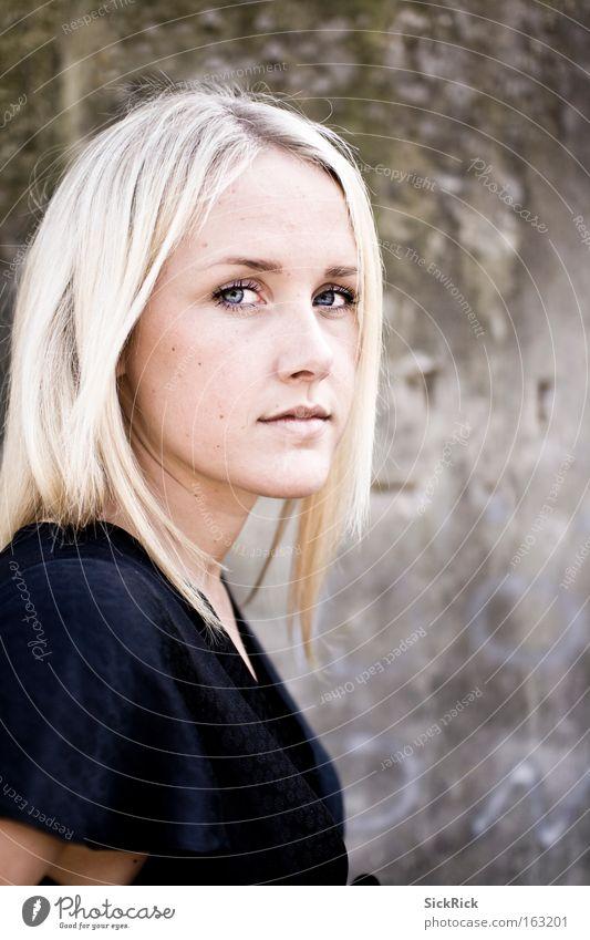 Blicke Frau schön Auge Gefühle Porträt Traurigkeit blond Gesicht Mensch