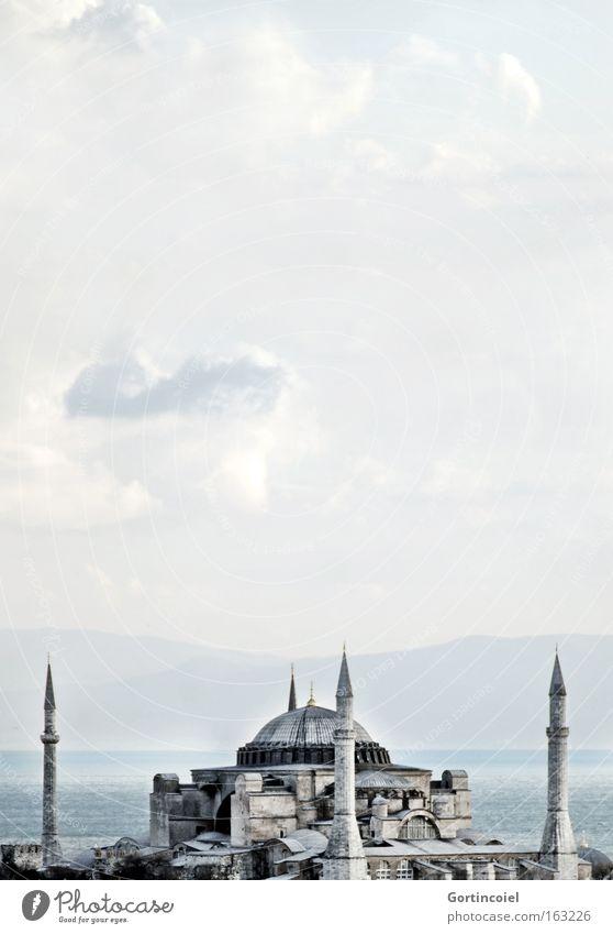 Hagia Sophia Ferien & Urlaub & Reisen Tourismus Ferne Sightseeing Städtereise Meer Istanbul Türkei Europa Bauwerk Gebäude Architektur Sehenswürdigkeit