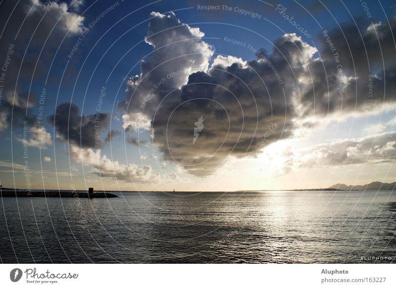 Kap des Lichts Frankreich Meer Sonne Küste Cote d'Azur Gewitter blau Frieden Antibes