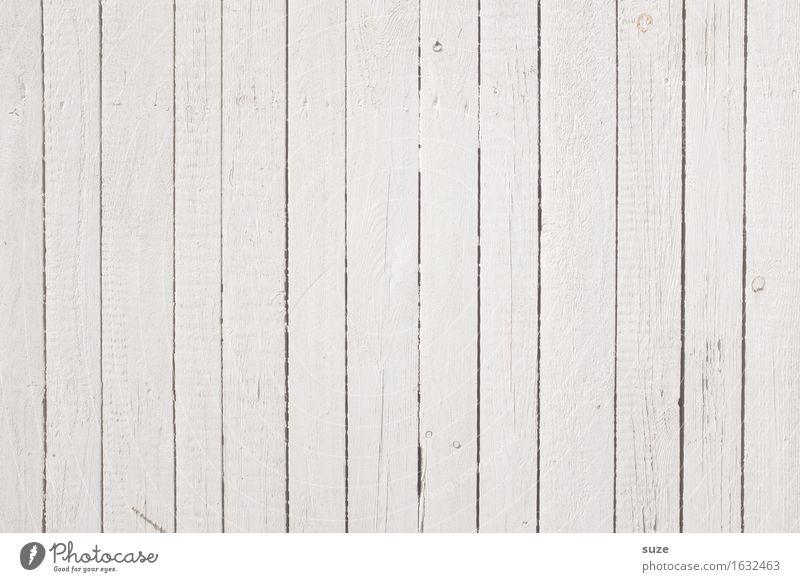 Grundierung Dekoration & Verzierung Mauer Wand Fassade Holz Linie Streifen alt authentisch einfach Freundlichkeit hell natürlich trist trocken weiß Farbe