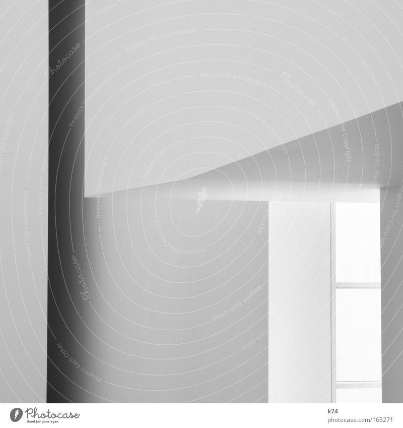 unbunt weiß grau sehr wenige graphisch Grafik u. Illustration Linie hell Fenster Monochrom Ecke Geometrie Geodreieck Lichteinfall dunkel modern Detailaufnahme