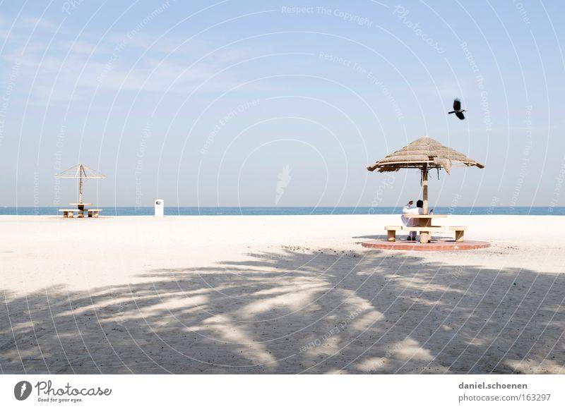Traumstrand 4 Wasser Himmel weiß Meer blau Strand Ferien & Urlaub & Reisen Küste Horizont Reisefotografie Surrealismus