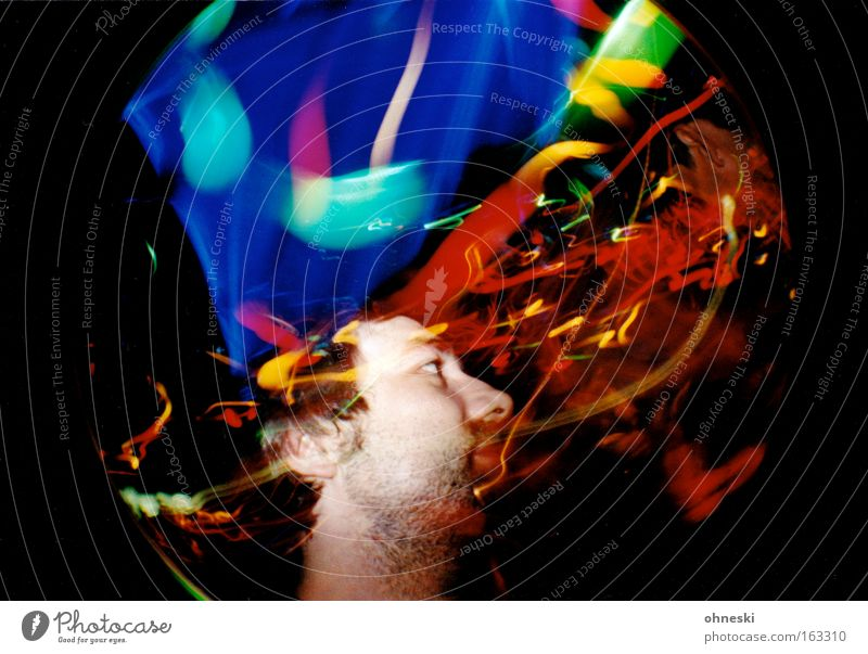 Friday Night Freude Party Musik Tanzen Disco Club Nachtleben Fischauge Lichteffekt Freitag