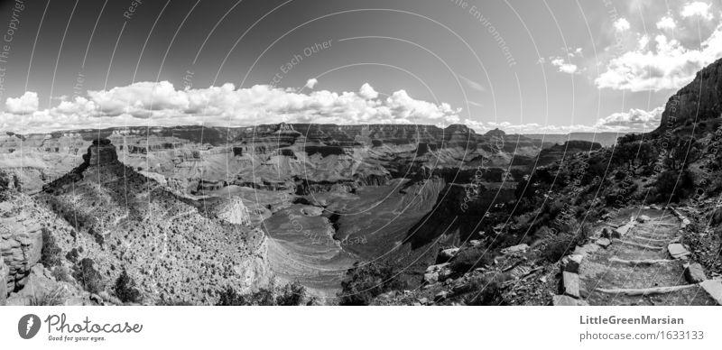Grand Canyon Abenteuer Freiheit Sonne Berge u. Gebirge wandern Natur Landschaft Horizont Felsen Schlucht Wüste außergewöhnlich groß heiß kalt trocken