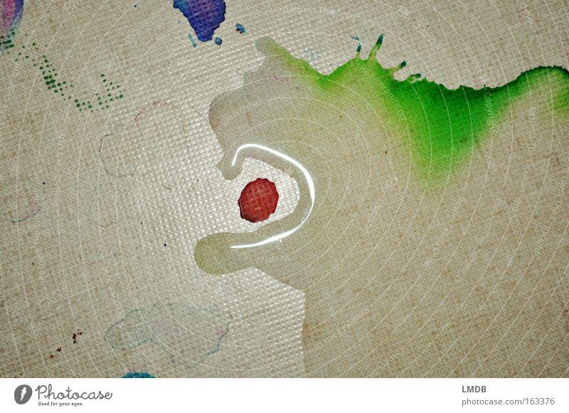 Drache Dagobert liebt Erdbeeren Wasser Farbe Kunst Kultur streichen Pfütze Fantasygeschichte Verlauf Literatur Farbverlauf Interpretation klecksen assoziativ