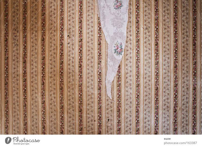 Musterseite alt Wand Mauer Zeit Wohnung Design Häusliches Leben Dekoration & Verzierung kaputt retro Vergänglichkeit verfallen Umzug (Wohnungswechsel) Vergangenheit Tapete Riss