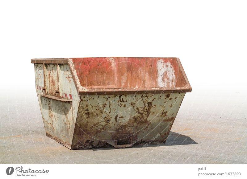 old garbage container alt Umwelt Straße dreckig offen groß Müll Rost Stahl Umweltschutz ökologisch Trennung Umweltverschmutzung Gewerbe Behälter u. Gefäße