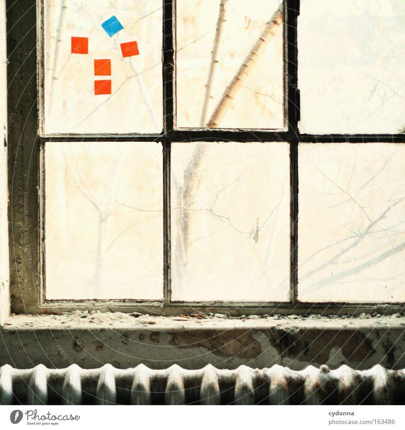 [DD|Apr|09] Bilderrätsel Fenster Freiheit Glas Zeit Romantik Dekoration & Verzierung Vergänglichkeit Sehnsucht verfallen Verfall Vergangenheit Symbole & Metaphern Gedanke Heizkörper Heizung Leerstand