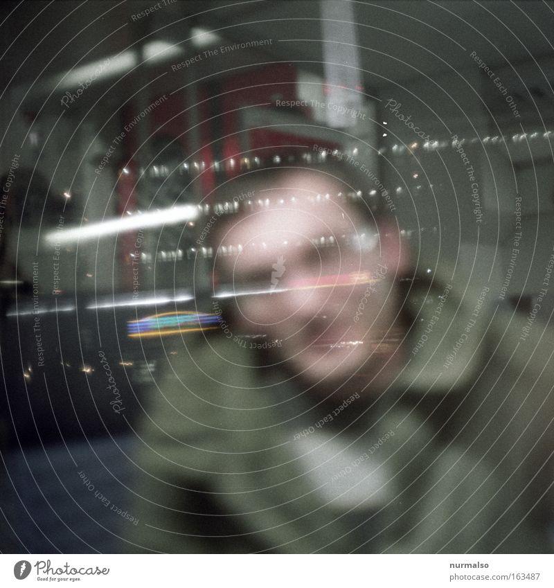 Geisterfahrer Mensch Tod Angst Eisenbahn fahren gruselig Geister u. Gespenster Panik unheimlich S-Bahn Nachtleben Fahrkarte Eisenbahnwaggon unnatürlich