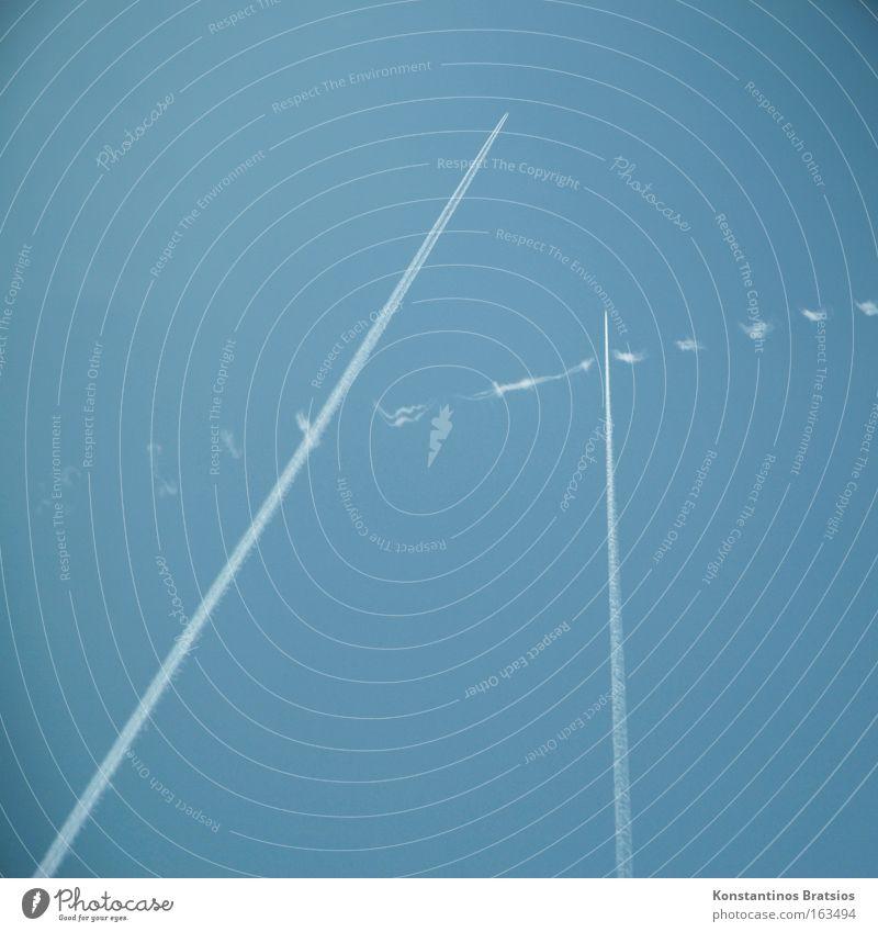 3,14 Himmel Flugzeug Luftverkehr Wasserdampf Triebwerke Fluggerät Kondensstreifen Rohstoffe & Kraftstoffe