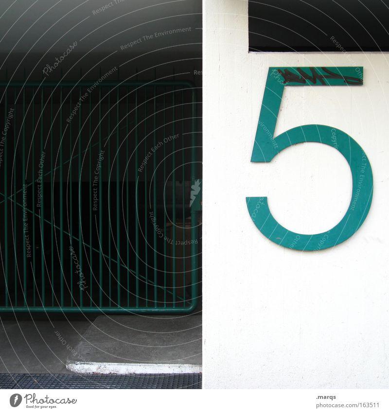 5 weiß grün Stadt Gebäude Beton Fassade Ziffern & Zahlen Häusliches Leben 5 Gitter Hauseingang Eingang Hausnummer