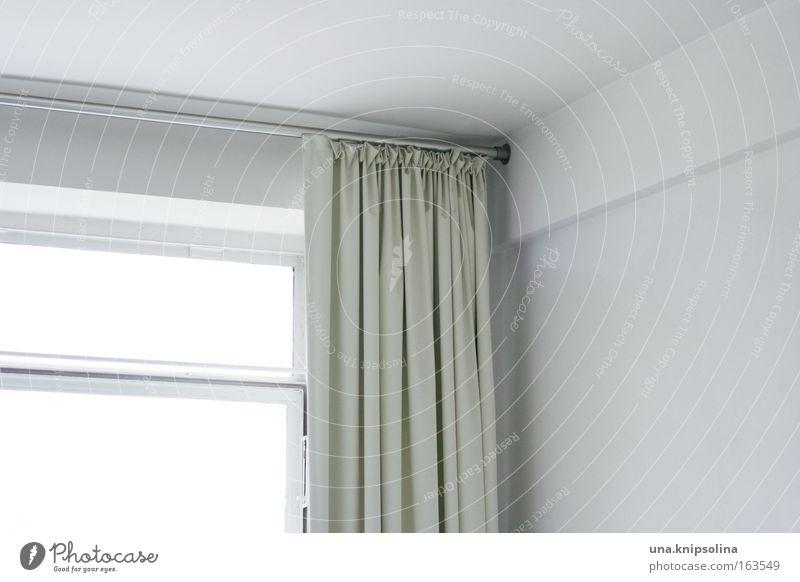 weiß Design Häusliches Leben Wohnung Haus Innenarchitektur Raum Kunst Bauwerk Architektur Mauer Wand Fenster Beton Glas Metall Blick ästhetisch hell trist