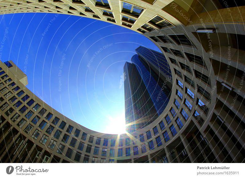 Tower 185 Frankfurt Main Sightseeing Städtereise Arbeitsplatz Büro Wirtschaft Kapitalwirtschaft Geldinstitut Umwelt Himmel Sonne Sonnenlicht Schönes Wetter