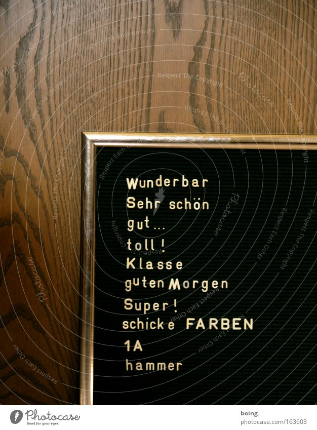 Textfreiraum zwischen den Ohren schwarz Holz braun gold Schilder & Markierungen lernen Schriftzeichen Hinweisschild Romantik Ziffern & Zahlen Zeichen historisch