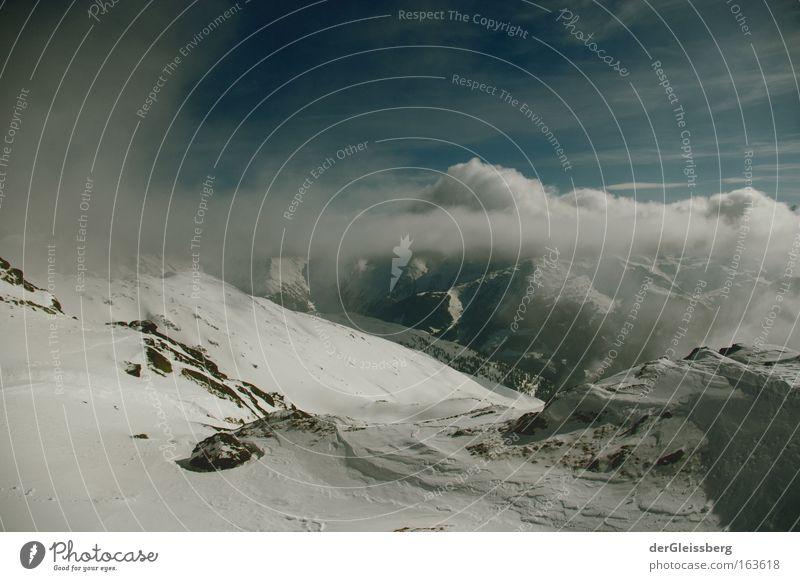 Wassertropfenaufstand Natur Himmel Winter ruhig Wolken Schnee Berge u. Gebirge Landschaft Luft Nebel Umwelt groß Felsen Hoffnung Alpen