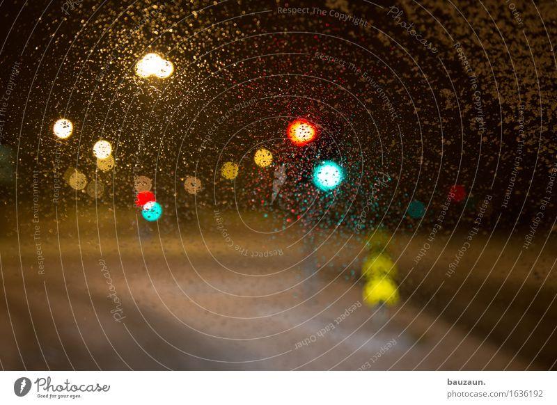 ab nach hause. Straße Regen Schneefall Wetter Verkehr leuchten Perspektive Wandel & Veränderung Verkehrswege Island Fahrzeug Autofahren Erwartung Ampel