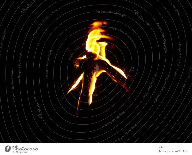 Fackeln dunkel Wärme Brand Freizeit & Hobby Flamme