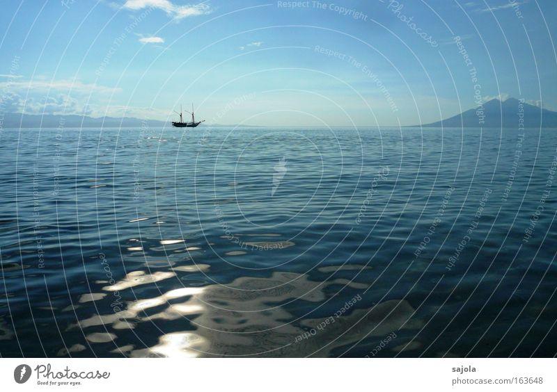 in die ferne schweifen Himmel blau Wasser Ferien & Urlaub & Reisen Meer Sommer Freude Ferne Landschaft Freiheit Horizont Wellen Insel Abenteuer Schönes Wetter
