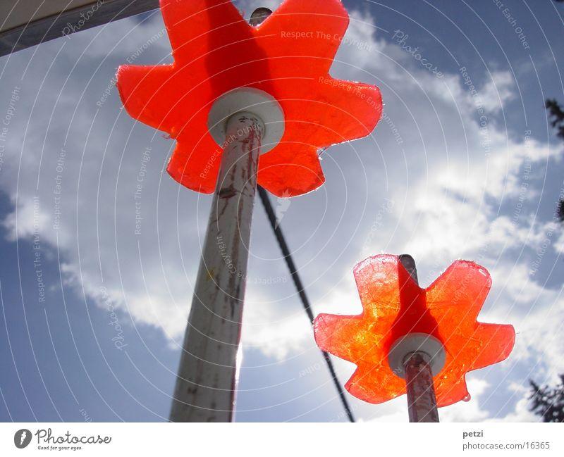 Schistock-Teller Himmel Wolken Seil Freizeit & Hobby Fahrstuhl