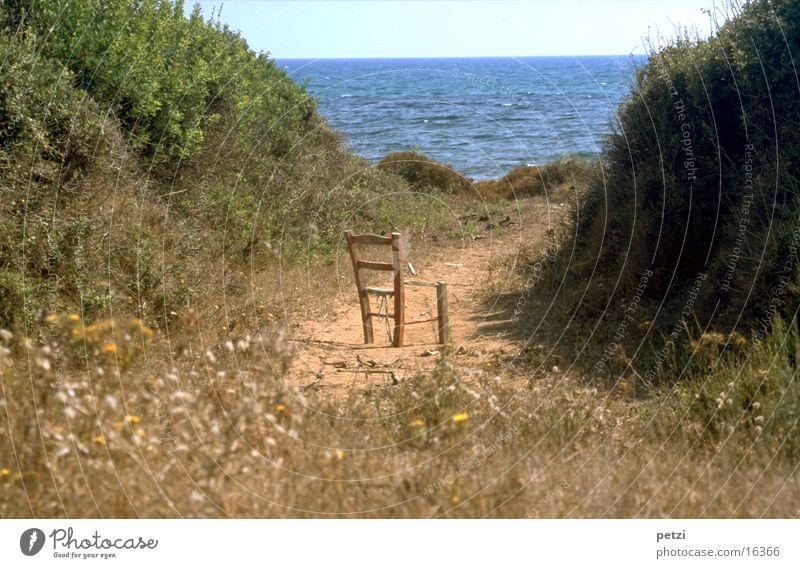 Abgestellt Meer Wege & Pfade träumen stehen beobachten Stranddüne Sessel Düne Möbel