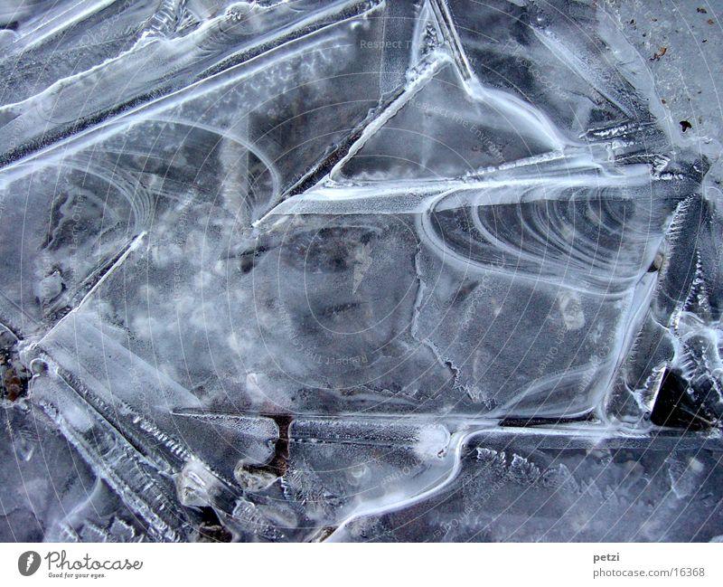 Eisschicht Natur schön Straße Eis ästhetisch Frost dünn außergewöhnlich zerbrechlich
