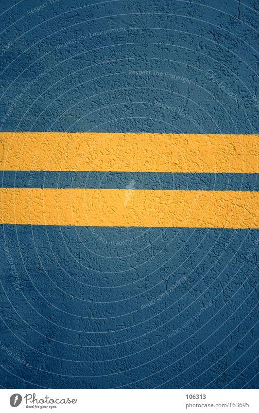 Fotonummer 118031 blau gelb Farbe Wand Linie Schilder & Markierungen Beton Streifen Zeichen Autobahn Symbole & Metaphern Geometrie harmonisch Schweden Putz