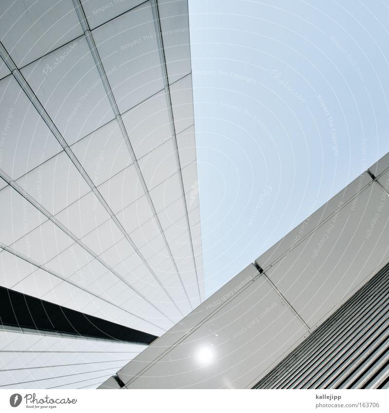 v Detailaufnahme Froschperspektive Himmel Stadt Hochhaus Gebäude Architektur Kraft Raster Gitter Etage vorstandsetage Mieter opel Bildausschnitt