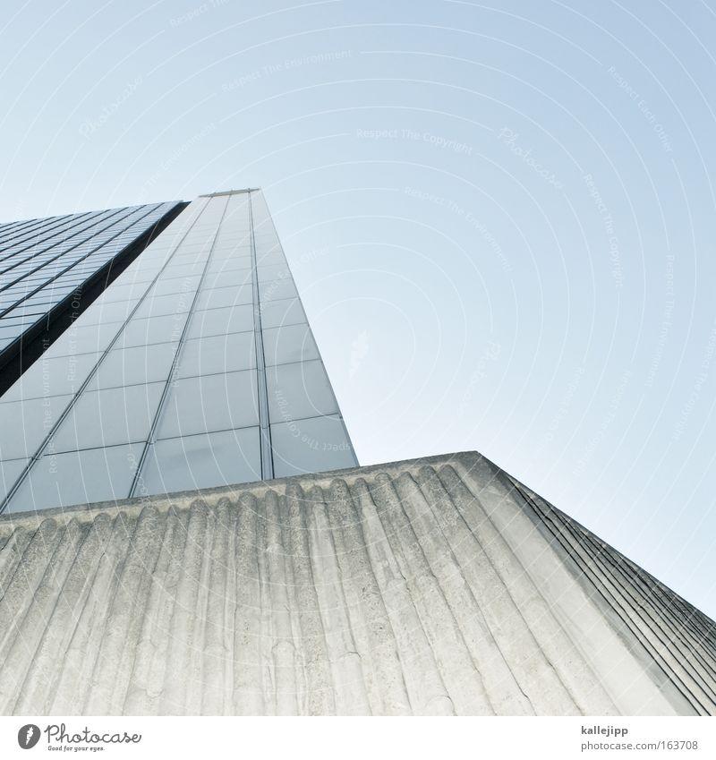 m Architektur Hochhaus Raster Gitter Etage vorstandsetage Gebäude Mieter opel Stadt Froschperspektive Himmel Detailaufnahme Bildausschnitt
