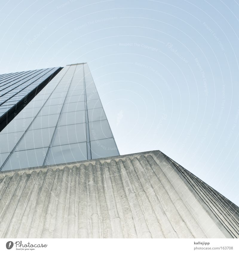 m Himmel Stadt Architektur Gebäude Hochhaus Etage Gitter Raster Bildausschnitt Mieter