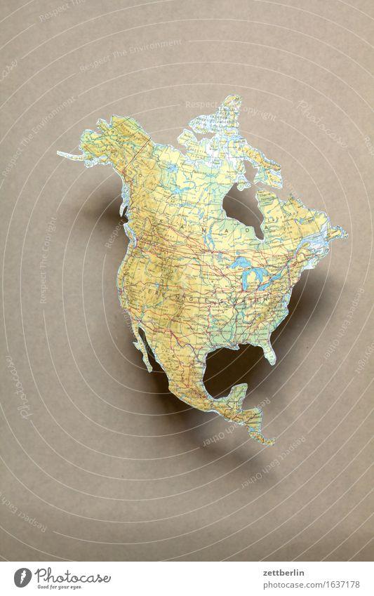 Nordamerika Ferien & Urlaub & Reisen Erde Textfreiraum USA Amerika Gesellschaft (Soziologie) Globus Landkarte Politik & Staat Kontinente Nordamerika Globalisierung Geografie Atlas
