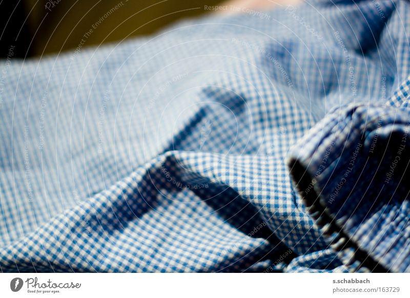 Boxer aus! blau Mode Bekleidung Stoff Müdigkeit Unterwäsche
