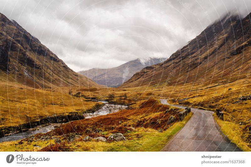 Glen Etive Ferien & Urlaub & Reisen Tourismus Ausflug Abenteuer Ferne Expedition Schnee Berge u. Gebirge wandern Klettern Bergsteigen Natur Landschaft Pflanze