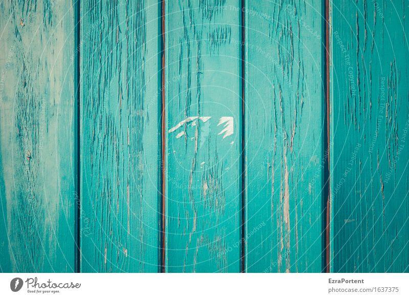 blaue Holzbretter, ohne Sonne und Schatten und ohne Vogelscheiße Haus Bauwerk Gebäude Mauer Wand Fassade Linie Streifen ästhetisch türkis Design Farbe Maserung