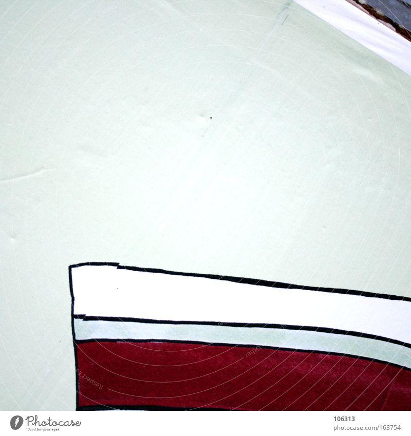 Fotonummer 117173 Linie rot weiß Freiraum Strukturen & Formen graphisch wild zeichnug abstrakt Detailaufnahme ausschnitt