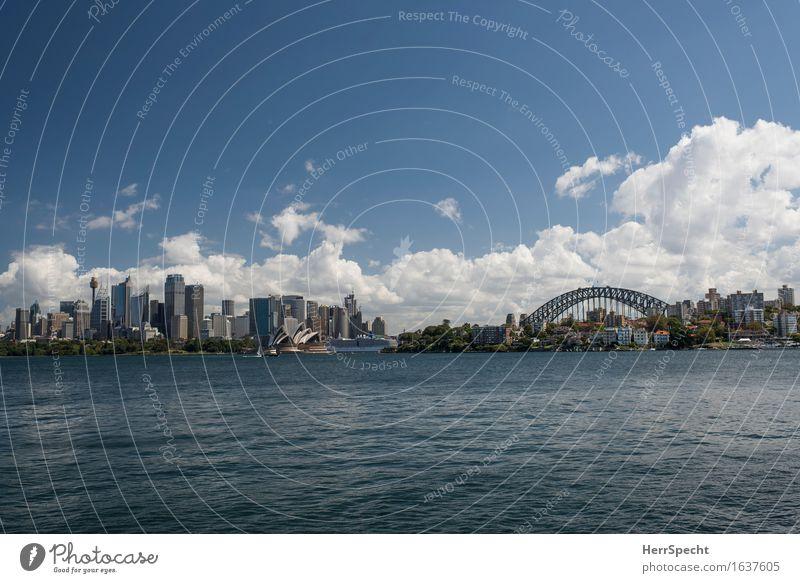 Schönste Aussicht Sydney Australien New South Wales Hafenstadt Stadtzentrum Skyline Hochhaus Brücke Bauwerk Gebäude Architektur Sehenswürdigkeit Wahrzeichen